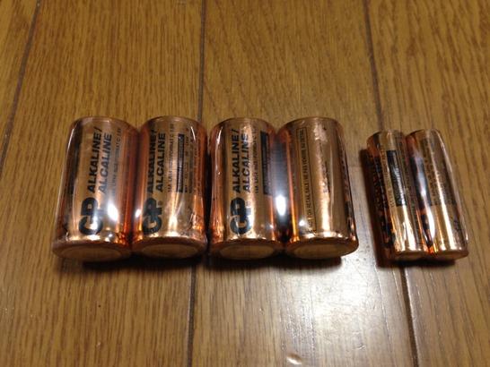 附属の電池