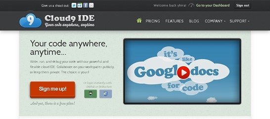 Cloud9 IDE  Your code anywhere, anytime