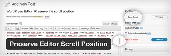 Preserve Editor Scroll Position