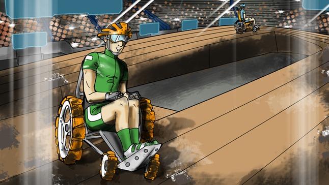 強化車椅子レース