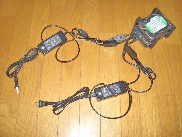タイムリー GROOVY HDDをUSB SATA接続を2台以上接続