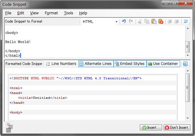 Code Snippet plugin for Windows Live Writer