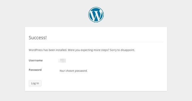 Wordpress初期設定完了