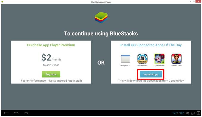 BlueStacksの継続使用