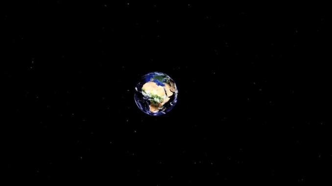 地球にズーム