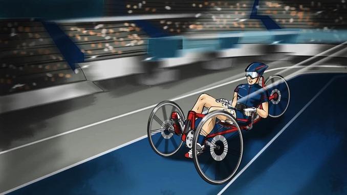 電気刺激バイクレース