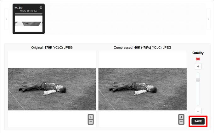 JPEG画像を圧縮する