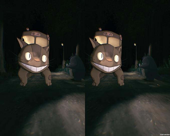猫バスとトトロ
