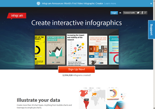 Create infographics & online charts  infogr.am