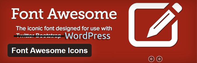 Font Awesome Iconsプラグイン