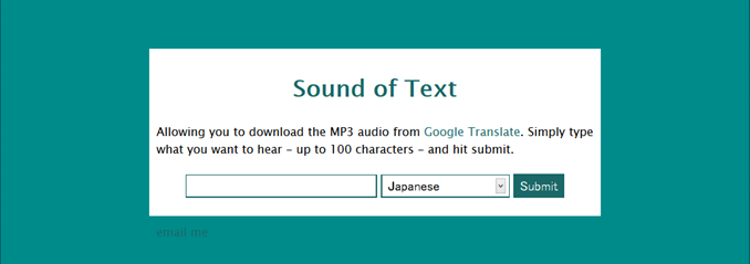 Sound of Text  Download Google Translate MP3 audio