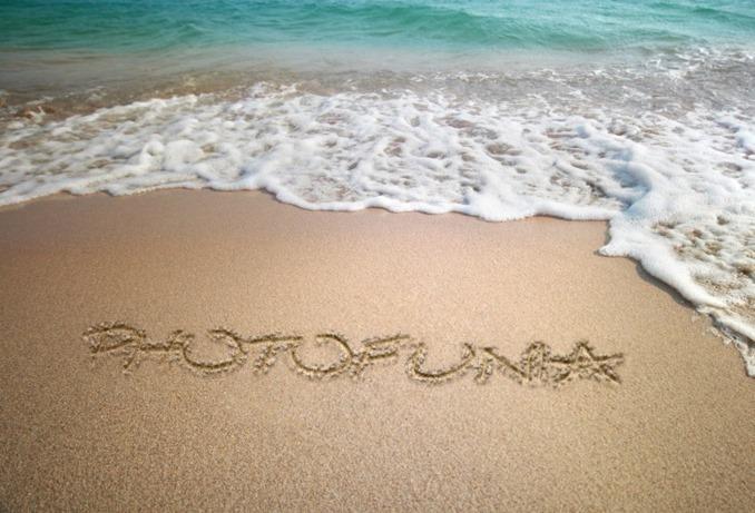 砂浜の文字