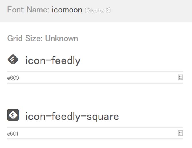IcoMoon デモページ