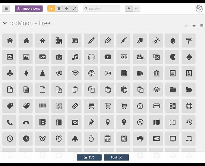 IcoMoon App - Icon Font   SVG Generator