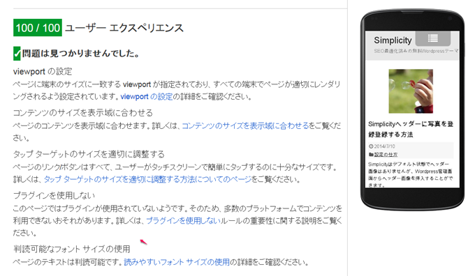 PageSpeed Insightsユーザーエクスペリエンス