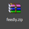 feedly zipファイル