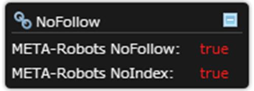 Chrome noindex nofollow