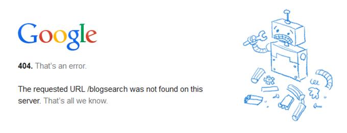 Googleブログ検索の消滅