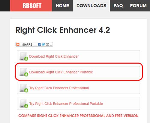 Right Click Enhancer Portable