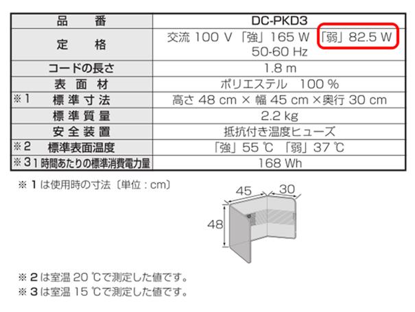 DC-PKD3-Cの仕様