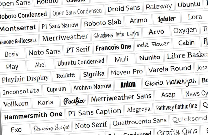 Google Fontsのフォント