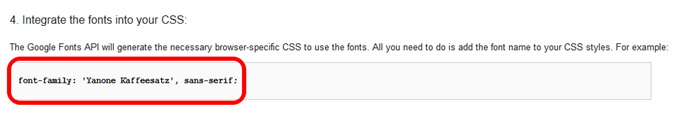 Integrate the fonts into your CSS