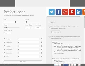 Perfect Icons - A social icon creation tool.