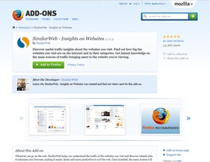 SimilarWeb - Insights on Websites -- Add-ons for Firefox