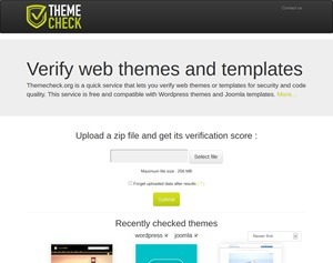 The Web Template Verification Service