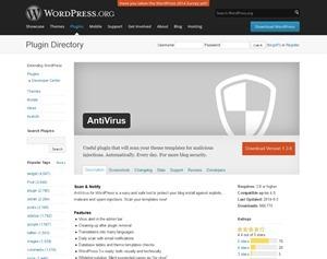 WordPress › AntiVirus « WordPress Plugins