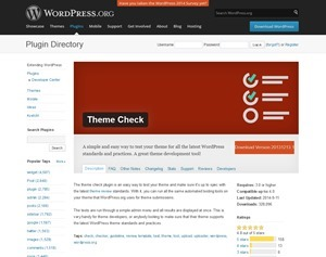 WordPress › Theme Check « WordPress Plugins