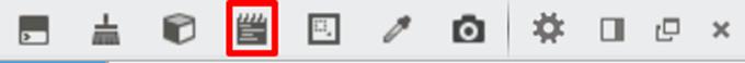 スクラッチパッドのアイコン表示