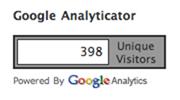 Google Analyticator アクセスカウンタ
