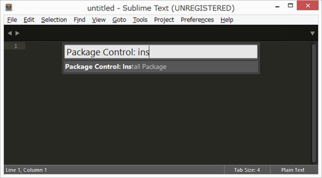 Sublime Text3インストールパッケージ