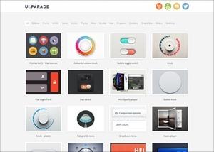Ui Parade – User interface design inspiration & design tools