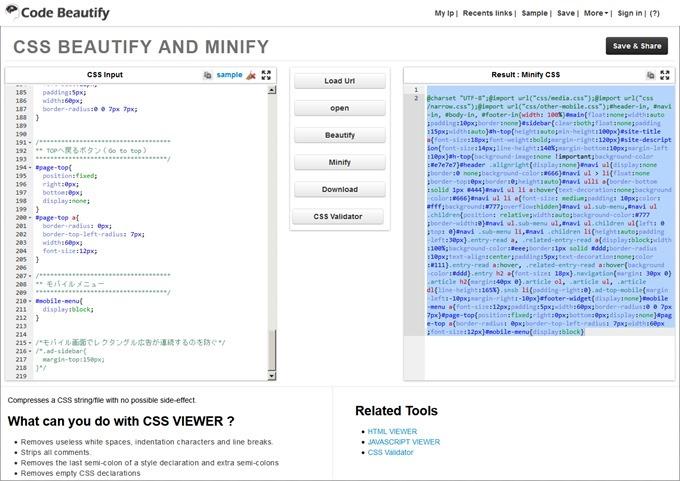 Best Online CSS Viewer,Editor,Beautifier-Formatter,Validator,Minifier,Compress