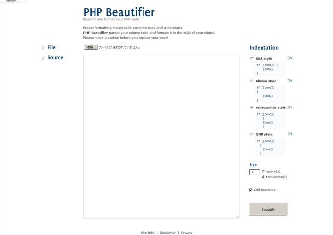 PHP Beautifier