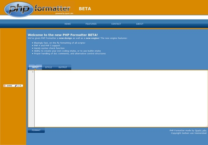 PHP Formatter - PHP Beautifier - PHP Pretty Printer - Home