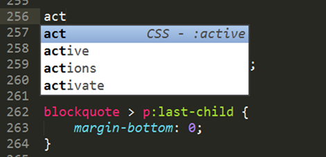 CSS snippets