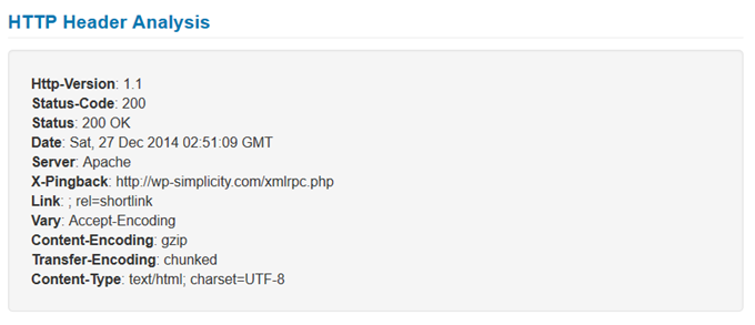 HTTP Header Analysis
