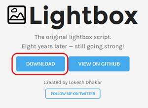 Lightboxをダウンロードする
