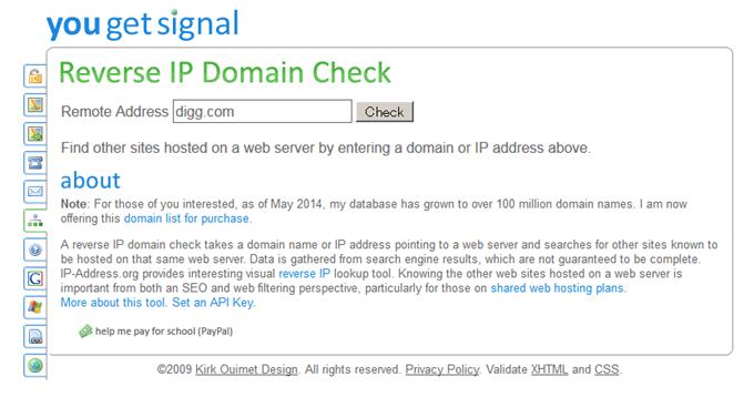 Reverse IP Lookup