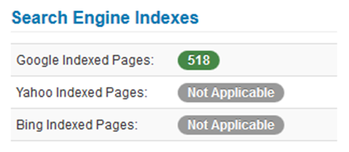 Search Engine Indexes