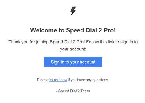 Speed dial 2 pro