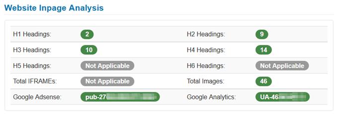 Website Inpage Analysis