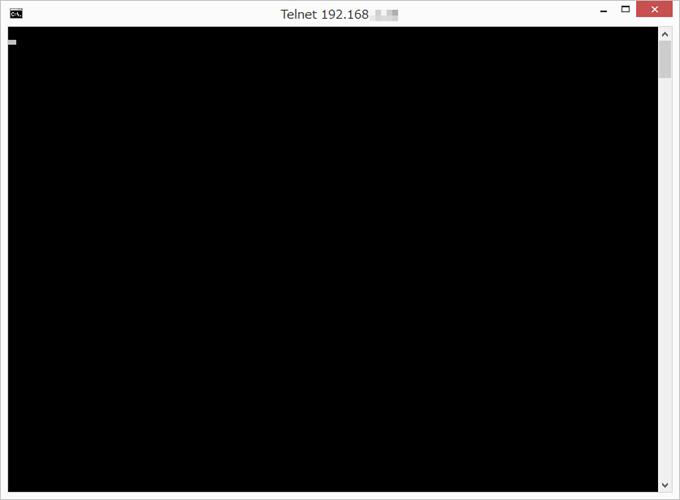 telnetのターミナル