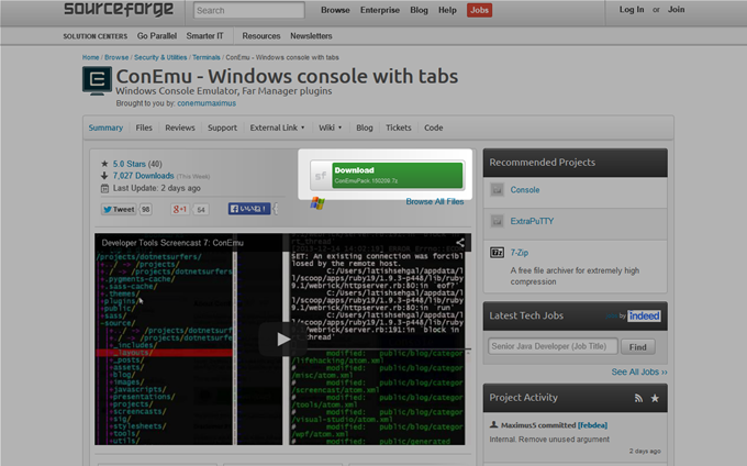 ConEmu - Windows console with tabs SourceForge.net