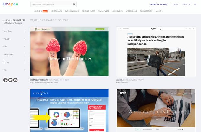 Marketing Design Search Engine - Crayon