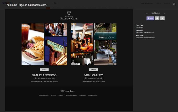 The Home Page on balboacafe.com.