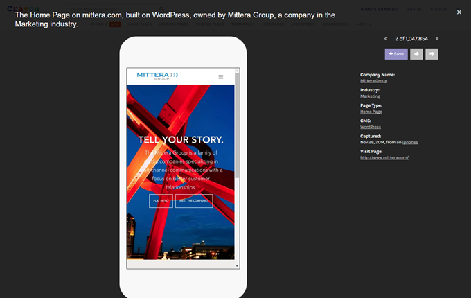 The Home Page on mittera.com  built on WordPress  owned by Mittera Group  a company in the Marketing industry.